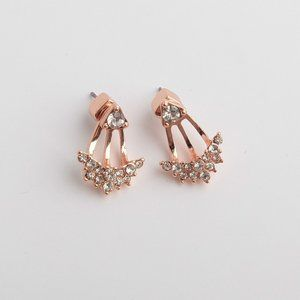 Kate Spade Rose Gold Suspended Gemstone Earrings